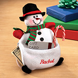 Stocking Stuffers - Personalized Snowman Money Gift Card Holder