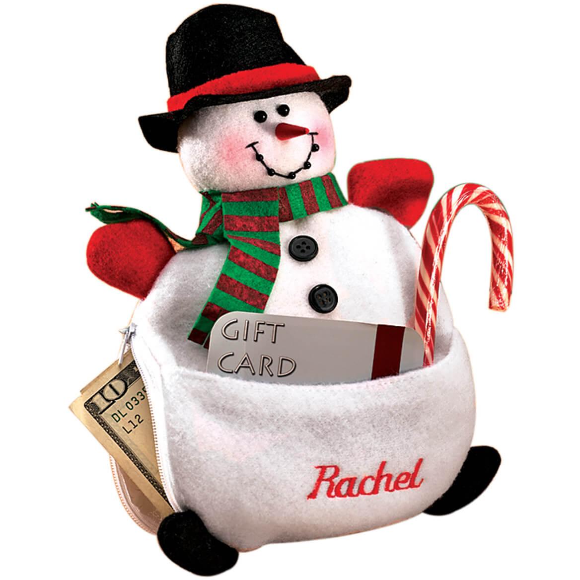 Personalized Snowman Cash Pouch-304373