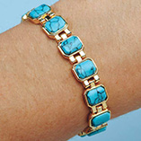 View All Jewelry & Keychains - Turquoise Magnetic Bracelet