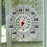 View All Flags, Spinners & Outdoor Decor - Suction Cup Window Thermometer