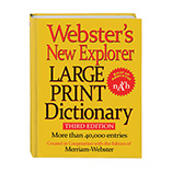 Games & Puzzles - Websters® Large Print Dictionary