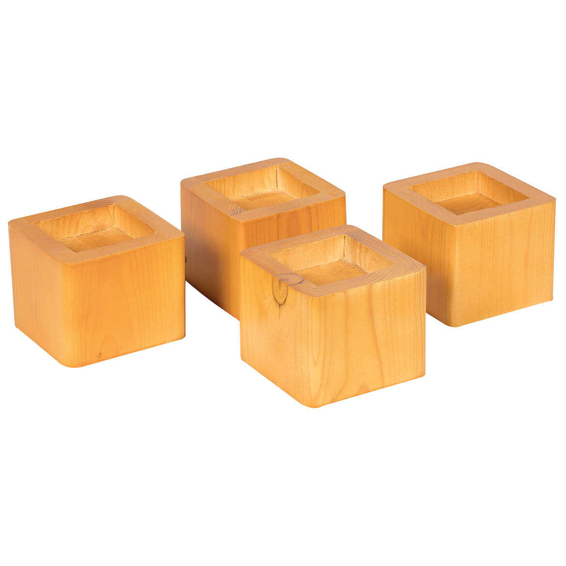 Wood Bed Risers Set of 4