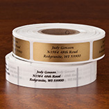 Calligraphy Address Labels - Roll of 500, Gold