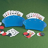 Puzzles, Games & Playing Cards - Free Standing Playing Card Holders - Set Of 2