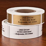 Calligraphy Address Labels - Roll of 250, Gold