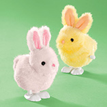 Easter - Wind Up Hopping Bunny Toy
