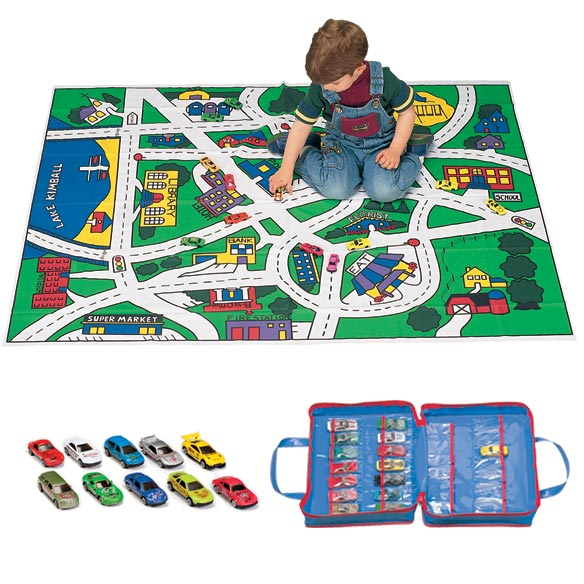 Floor Play Mat And Car Set And Case