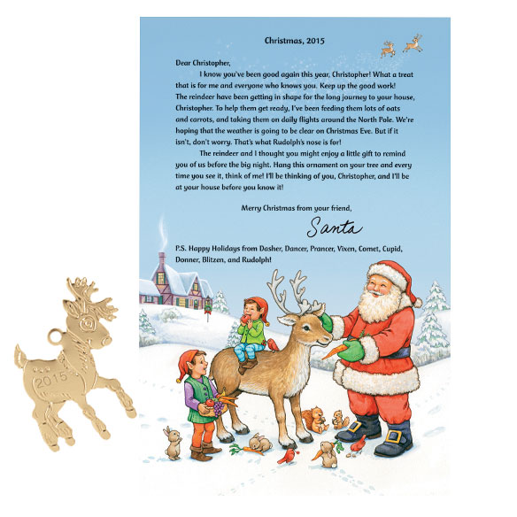 Letter From Santa and Ornament