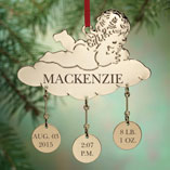 Personalized Baby Christmas Ornament