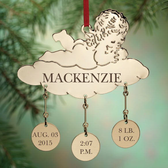 Personalized Baby on a Cloud Ornament