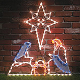 Lighted Nativity Set