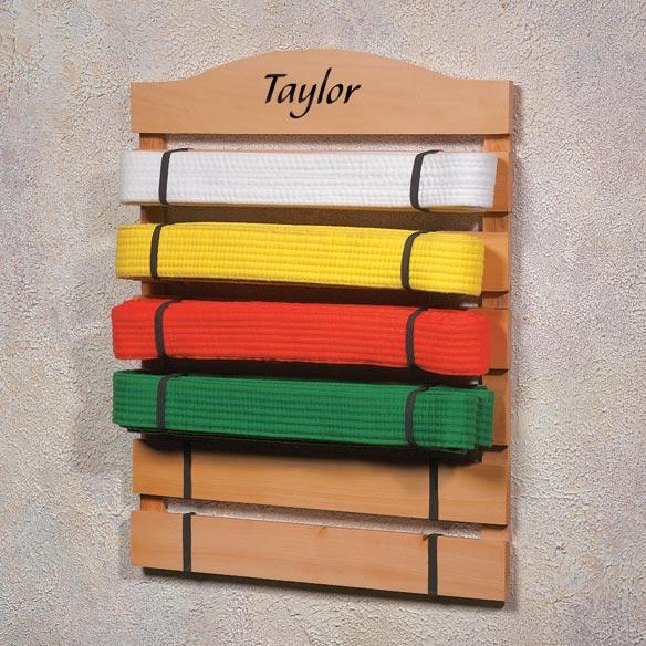 Personalized Karate Belt Rack
