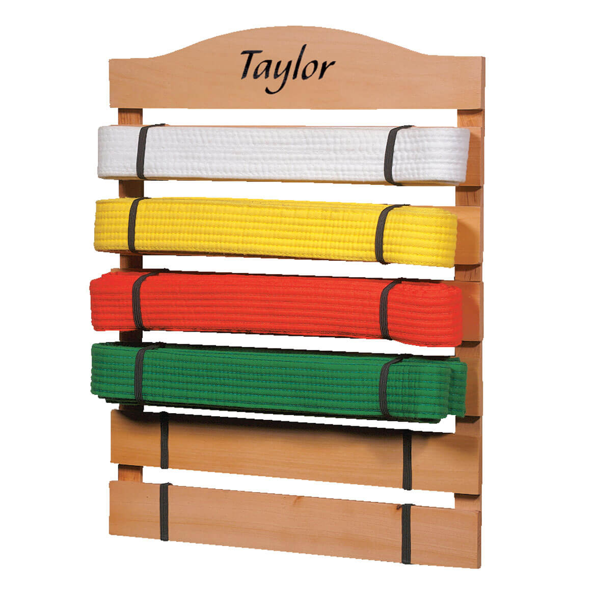 Personalized Karate Belt Rack - Karate Belt Display - Miles Kimball