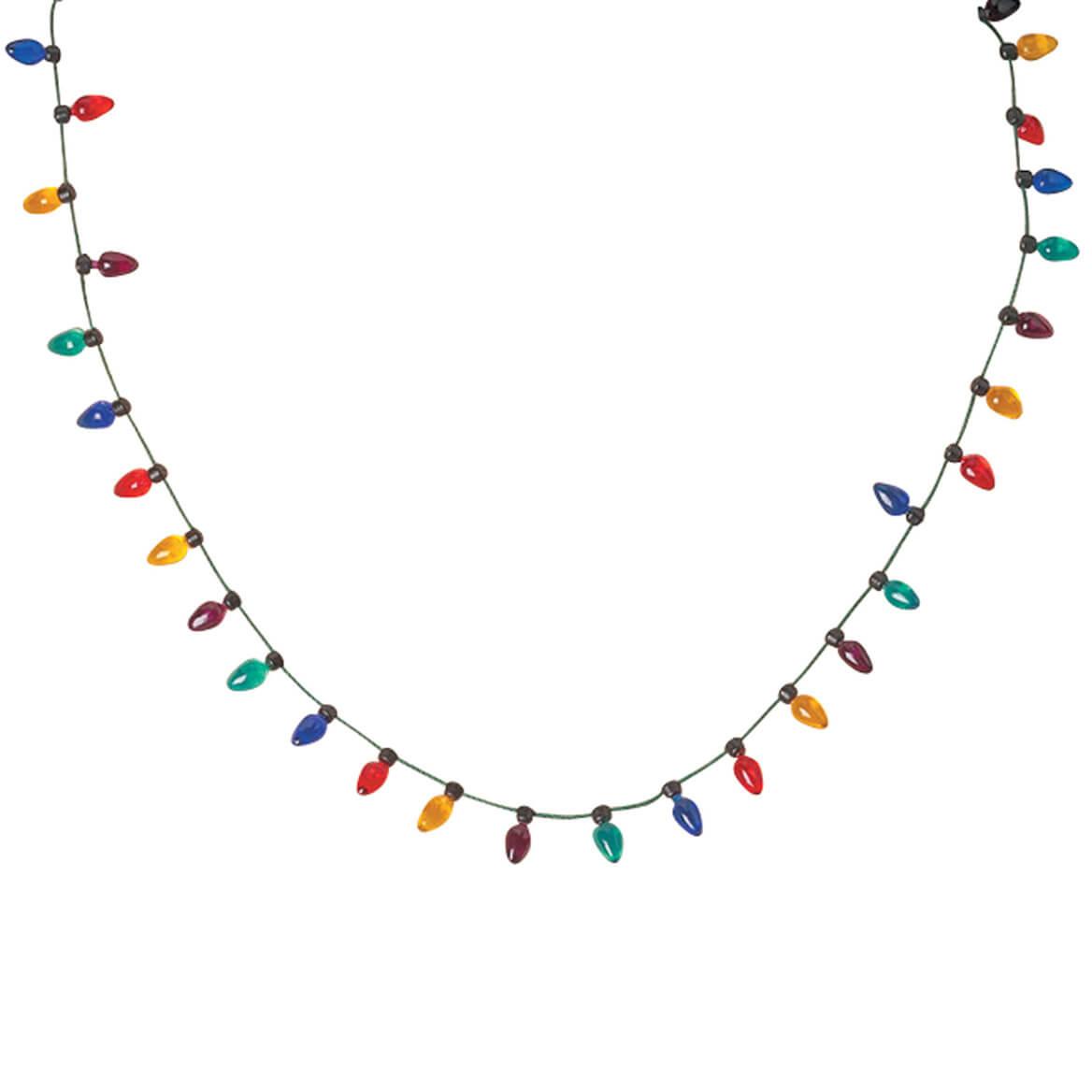 christmas light necklace christmas light bulb necklace miles kimballchristmas light necklace