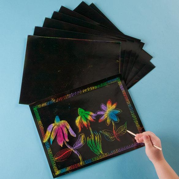 Scratch Art® Paper Multicolor Pack