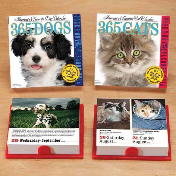 Page a Day Dog or Cat Calendar