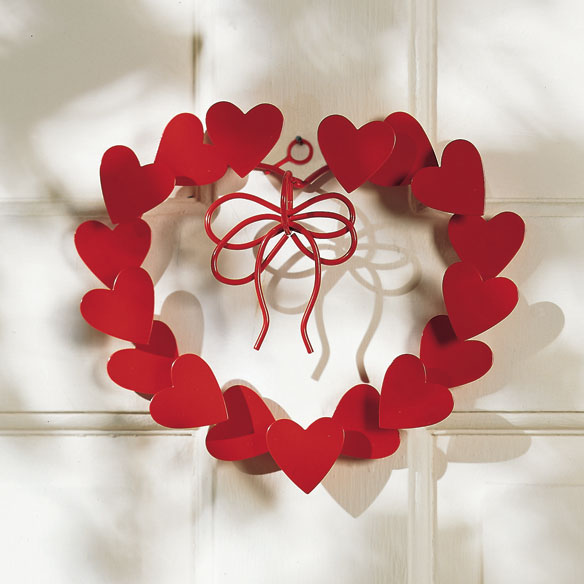 Metal Heart Wreath