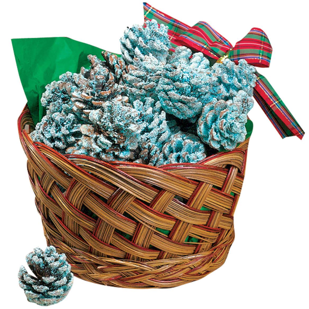 Color Pinecones in Basket-310789