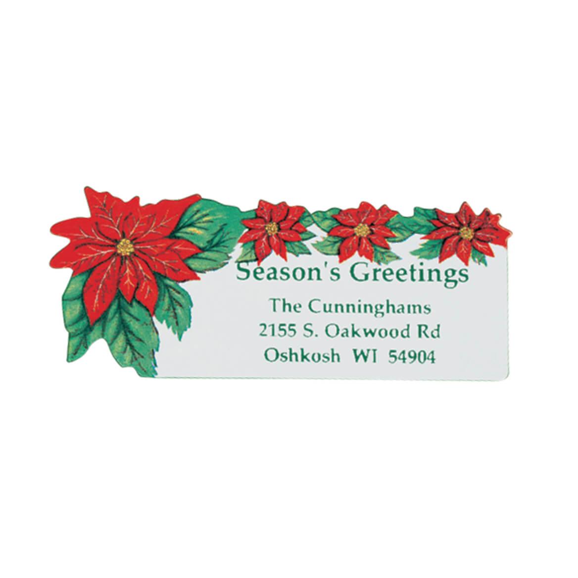 Poinsettia Address Labels 250-310886