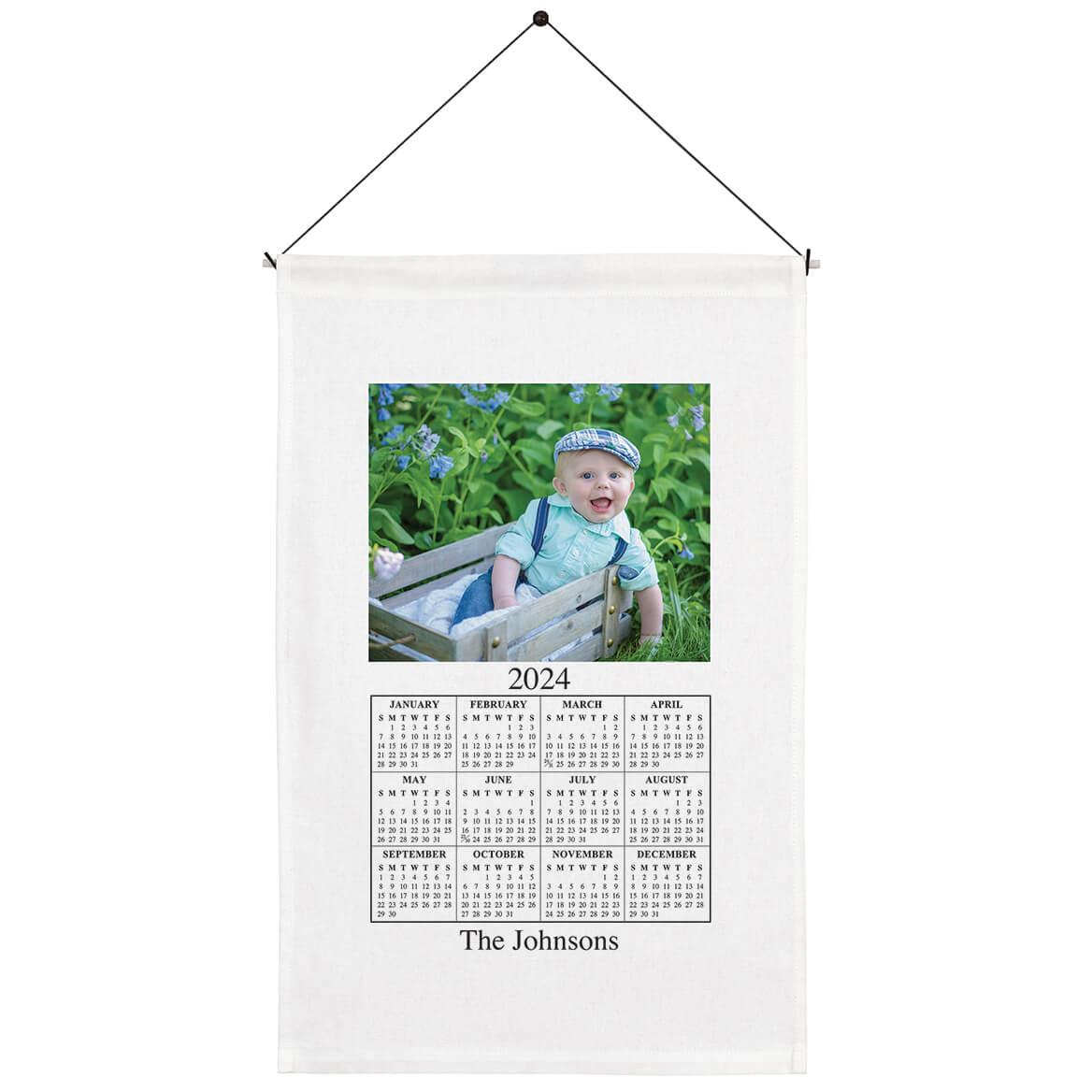 Personalized Photo Calendar Towel