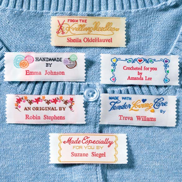 labels for handmade items personal handiwork labels personalized fabric labels 7256