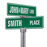 Home - Personalized Two Sided Street Sign