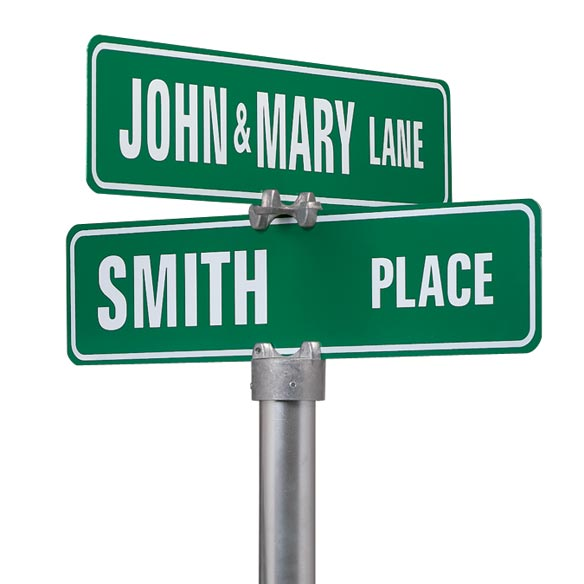 Personalized Two Sided Street Sign