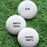 Sports - Personalized Golf Balls - Set of 6