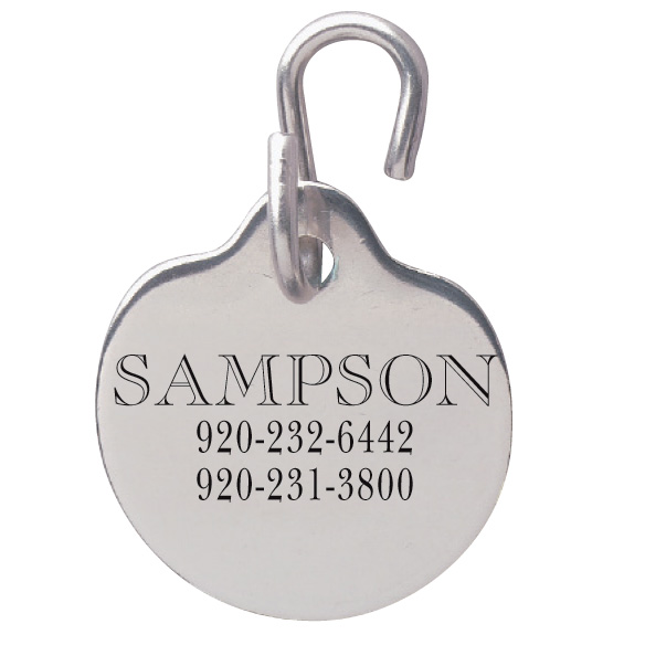 Disc Shaped Pet ID Tag