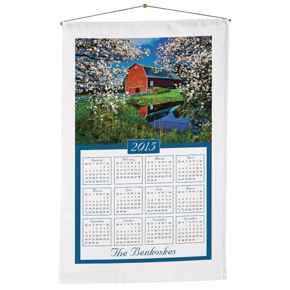 Personalized House Calendar Towel