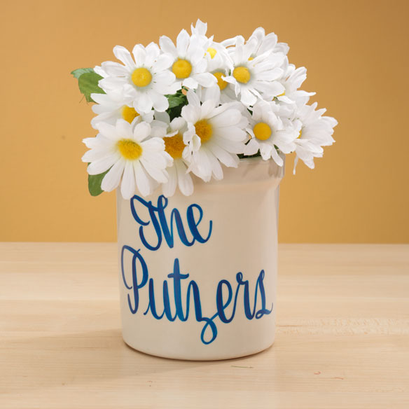 Personalized Stoneware Crock