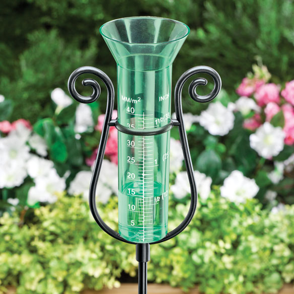 Graceful Garden Rain Gauge