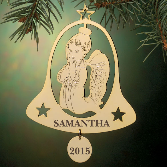Personalized Angel In Bell Ornament