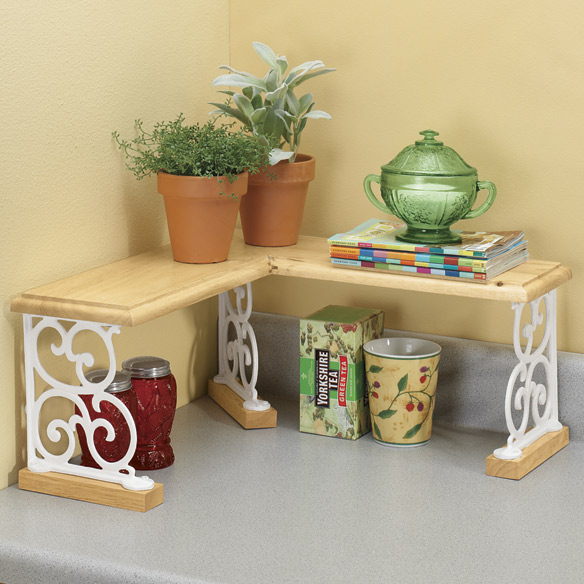Kitchen Counter Corner Shelf