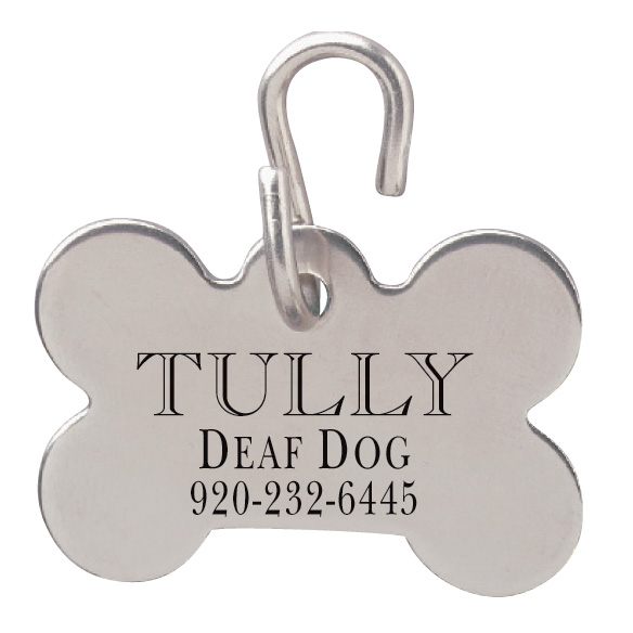 Dogbone Shaped Pet ID Tag