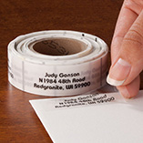 Address Labels & Seals - Clear Address Labels Roll - Roll of 250