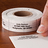 Address Labels & Seals - Clear Address Labels Roll - Roll of 500