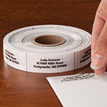 Address Labels & Seals - Clear Address Labels - Roll of 1000