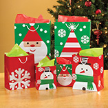 Wrapping & Gift Giving - Christmas Value Gift Bags - Set Of 10