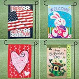 4th of July - Garden Flag Set - Set Of 4