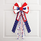4th of July - American Flag Bow