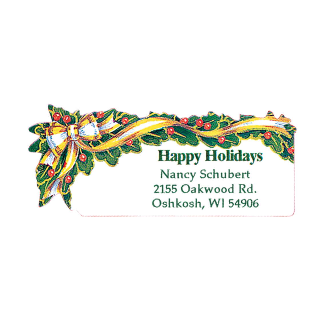 Holly and Ribbon Address Labels 250-311839