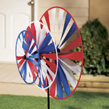 Triple Pinwheel Patriotic Wind Spinners