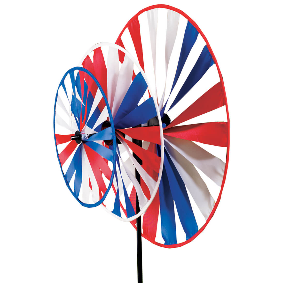 Patriotic Triple Pinwheel Windspinner