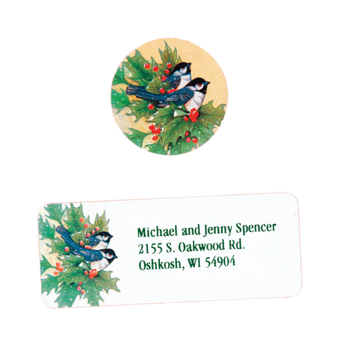 Winter Chickadee Labels & Seals Set-311971