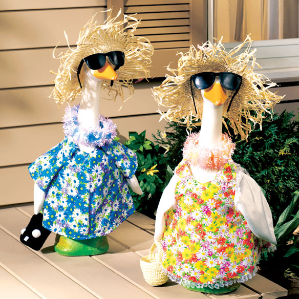 Beach Vacation Goose Outfit Set