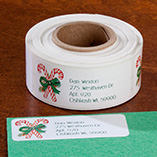 Address Labels & Seals - Candy Cane Return Address Labels - Set of 250