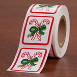 Address Labels & Seals - Candy Cane Seals - Set of 250