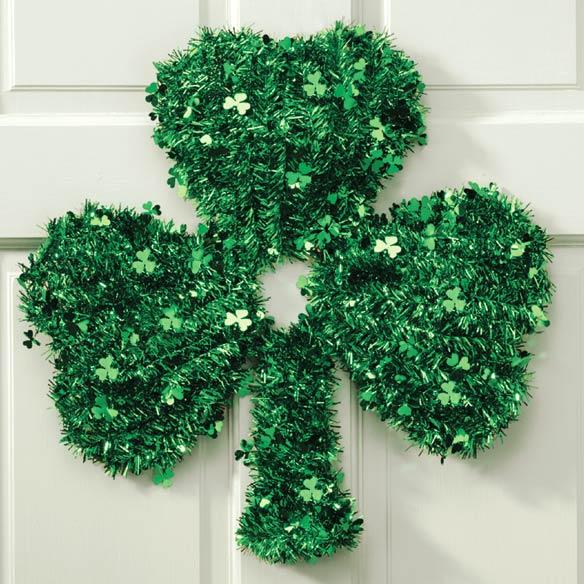 Shamrock Glitter Wreath