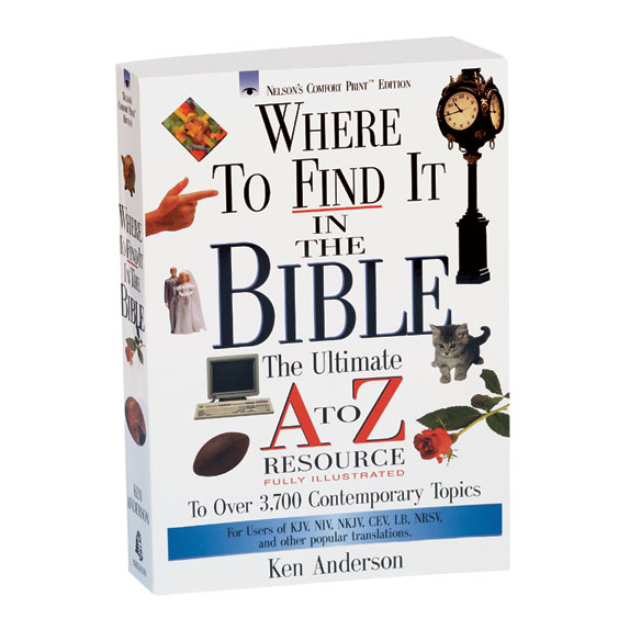 Where To Find It In The Bible Book